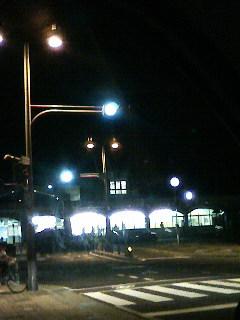 21時半過ぎの恵那駅前