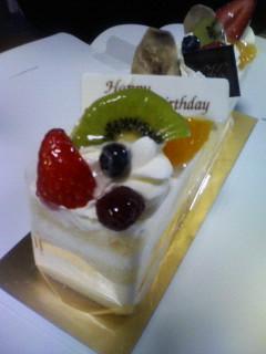 洋酒の効いたケーキ