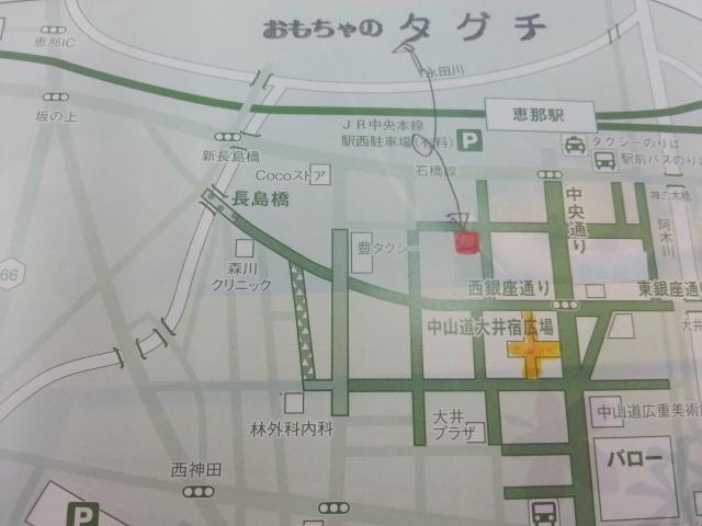 ミニ四駆大会開催場所案内図
